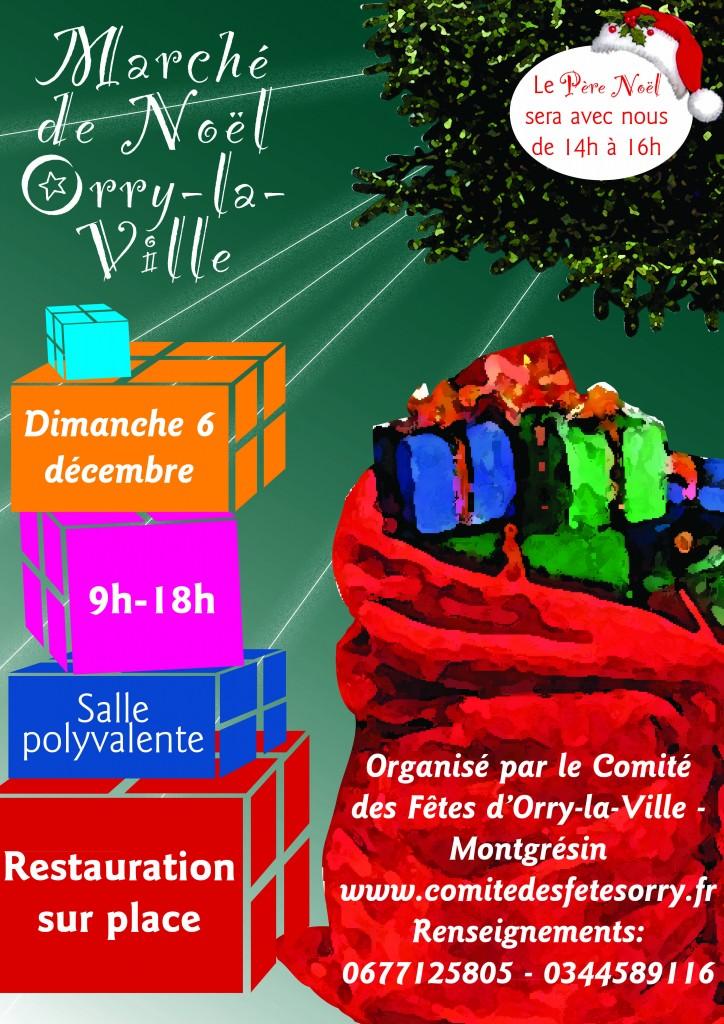 Affiche marché de Noël 2015