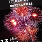 Affiche 14 juillet 2018 Comité des fêtes Orry-la-Ville Montgrésin