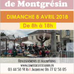 Brocante Montgresin 2018 Comité des fêtes Orry-la-Ville Montgrésin