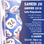 Affiche loto 2018 Comité des fêtes Orry-la-Ville Montgrésin